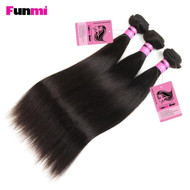 Funmi Raw Indian Straight kose Bundle sa zatvoriti 3 Bundle s - Oprema za frizerske salone - Foto 5