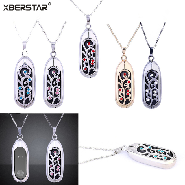 Fashion Jewelry Necklace Stainless Steel Chain Pendant For Xiaomi Mi Bands 2/1 Sleep Fitness Monitor