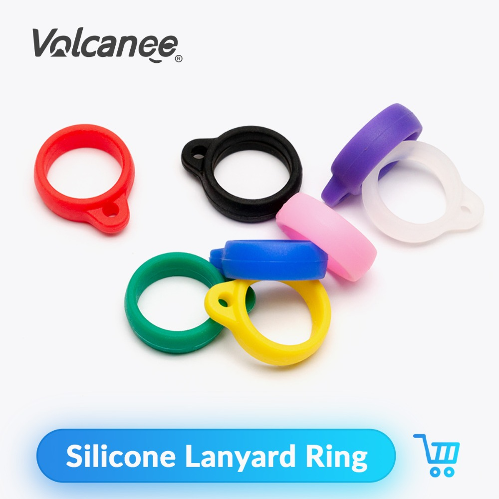 Quartz Banger 10Pcs/lot Silicone Lanyard Ring Necklace Ring For EGO CE4 CE6 T2 T3 T3S EVOD Atomizer Silicone Ring Vape Band