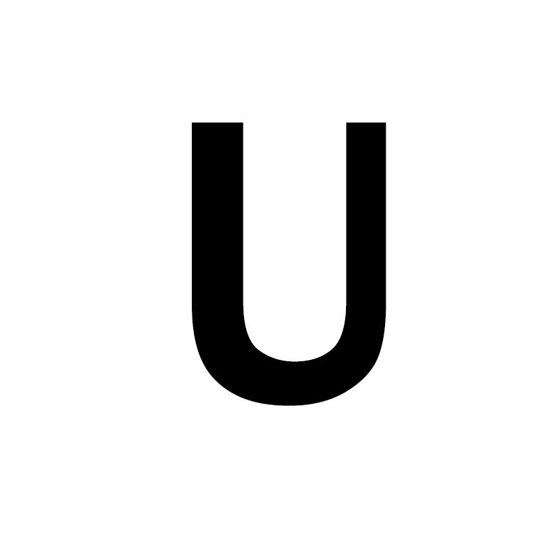Унисекс, золото, серебро, цвет, A-Z, 26 букв, первоначальное имя, кольца для мужчин и женщин, геометрический сплав, креативные кольца на палец, ювелирные изделия - Цвет основного камня: U