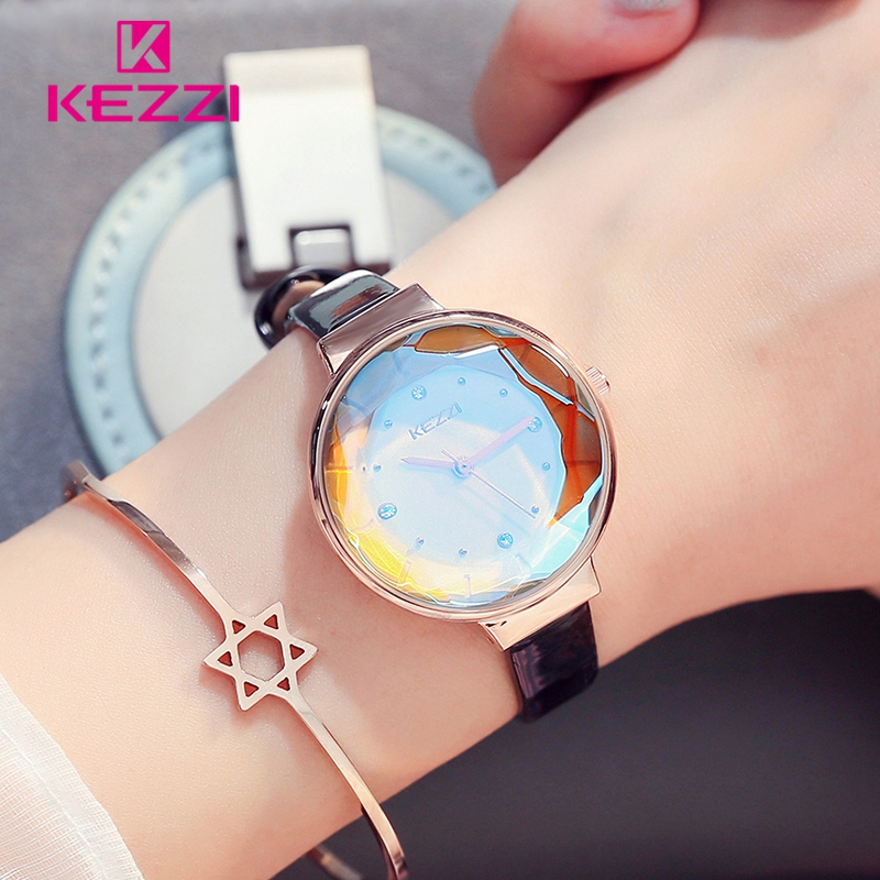 KEZZI Fine Belt Crystal Glass Simple and lovely Watches dames 'Daily - Dameshorloges - Foto 6