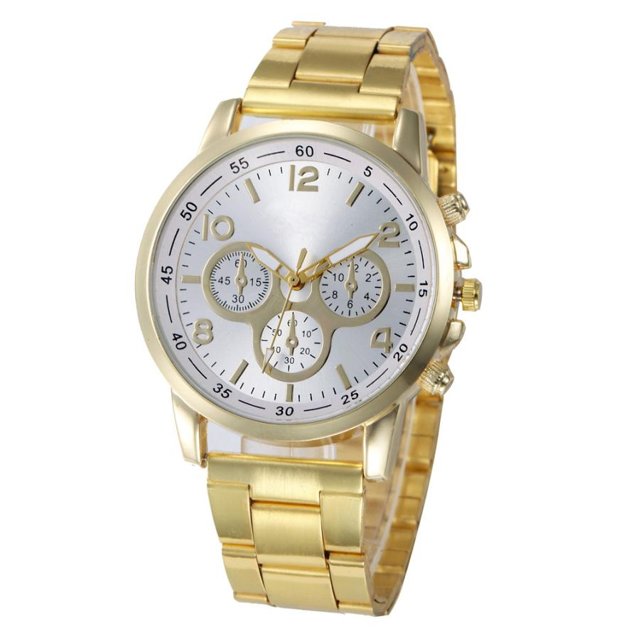 Wrist watches for women Fashion Geneva Numerals Stainless Steel Sport Clock Analog Quartz Hour Wrist Watch relogio feminino Z20