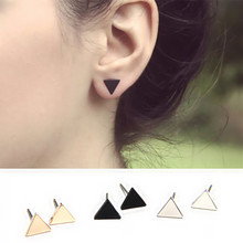 EK941 New European Style Minimalist Boucle Brincos LOVE Geometric Triangle Tiny Stud Earrings For Women Girl Jewelry Orecchini