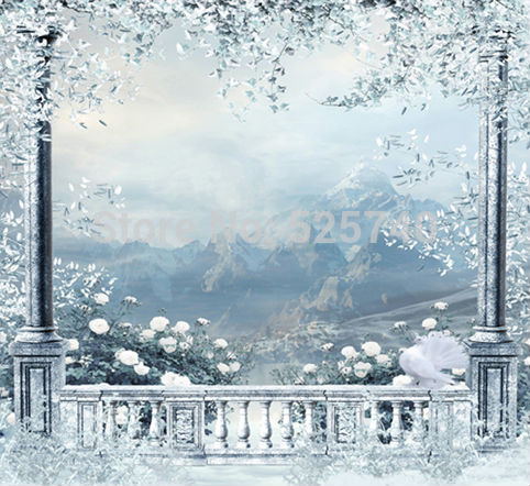 5*6.5FT Custom Made Snowscape Background For Photo Studio Thick Cloth Photography Backdrop Computer Printing Free Shipping
