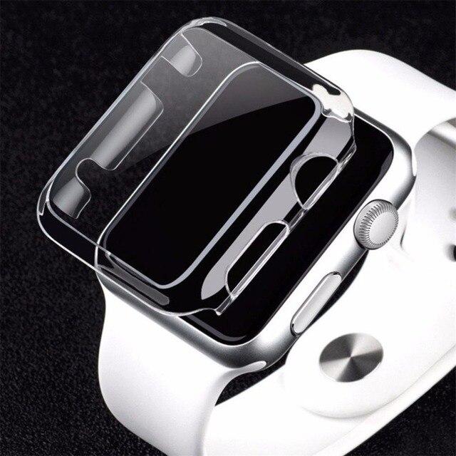 ff3483a5f23 Relógio Quadro PC Transparente caso Capa protetora para A Apple Relógio 42mm  38mm Colorido chapeamento capa