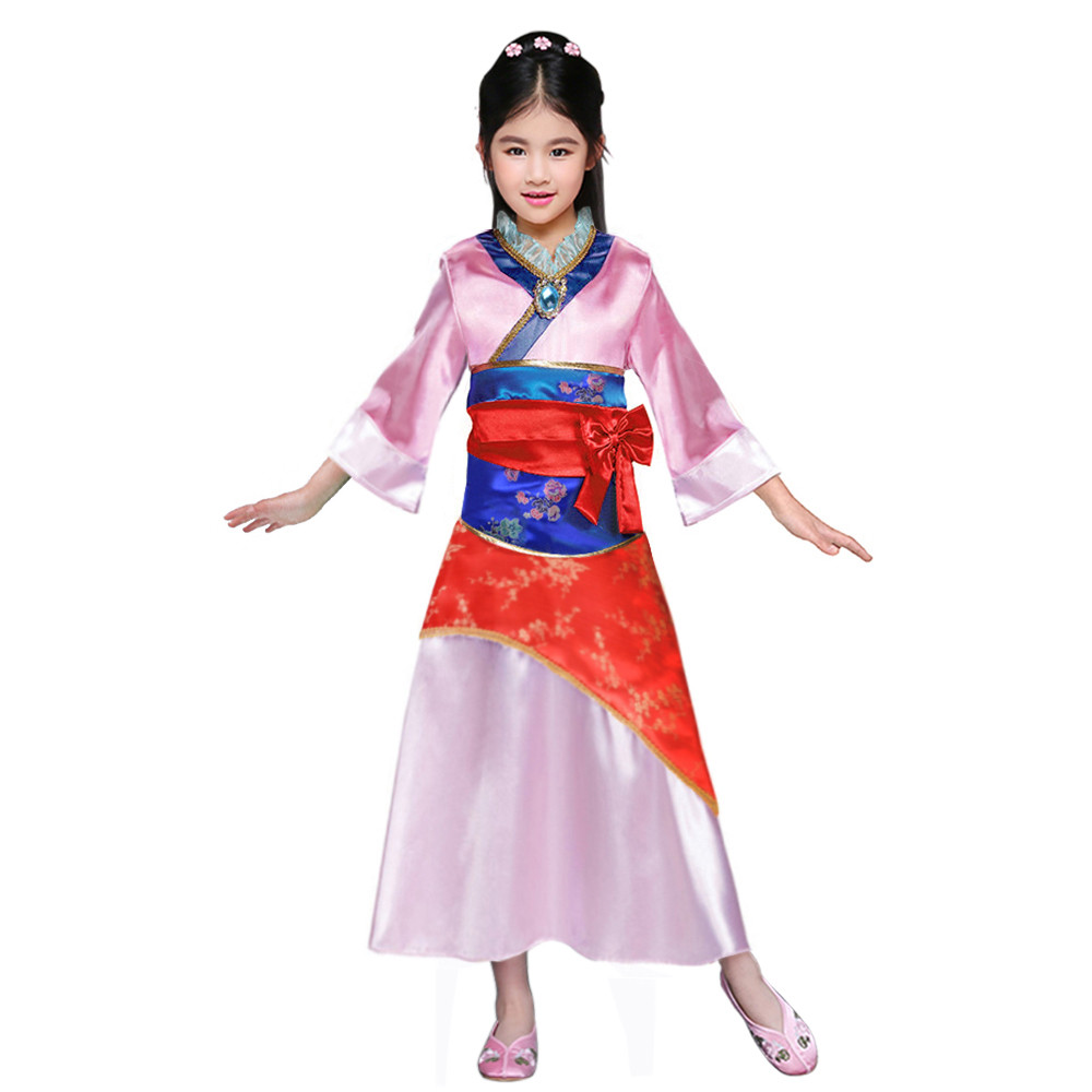 Aliexpress.com : Buy Little Girls Mulan Costume Chinese Princess Dress Up Outfit Tang Dynasty ...