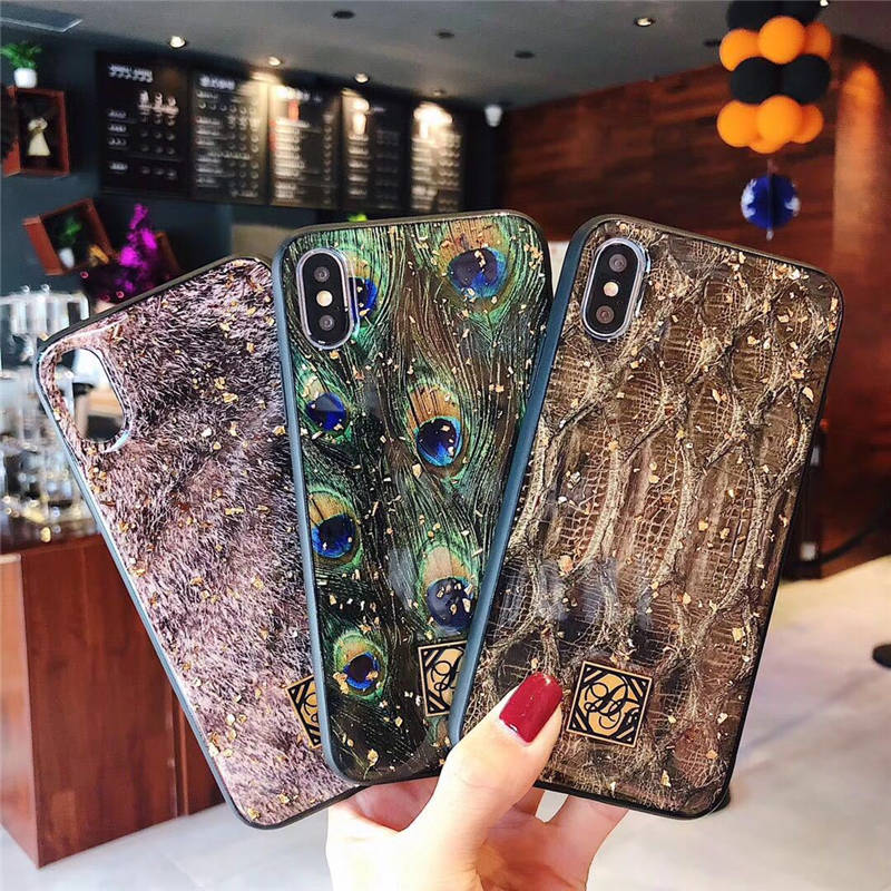 Europe And The United States Piggy For Iphone 6 6s 7 8P X Xs Xr Max Gold Foil 3D Epoxy Anti Fall Mobile Phone Shell in Fitted Cases from Cellphones Telecommunications