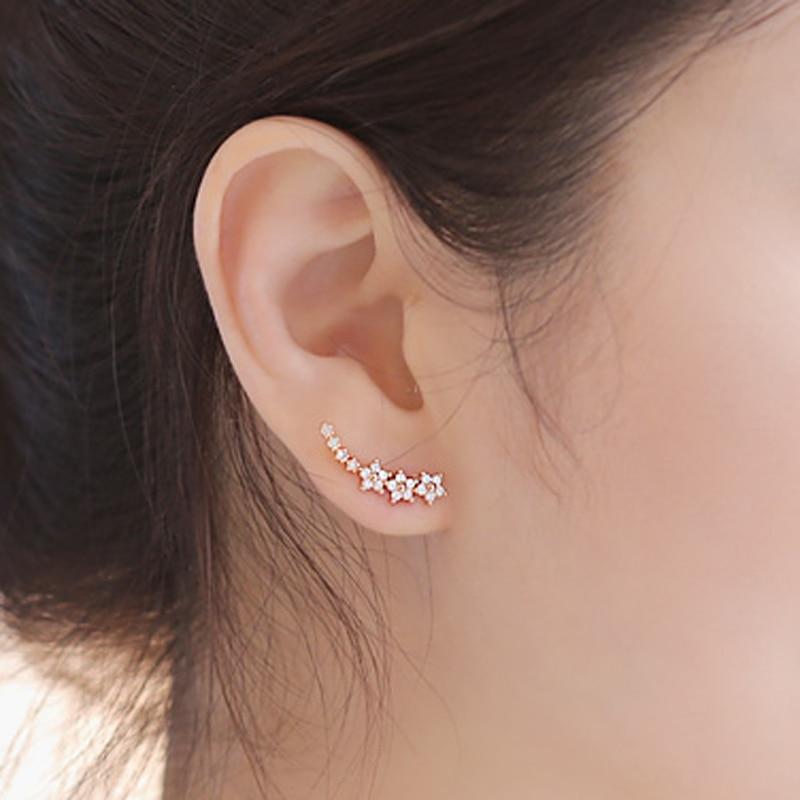 Hot sell stud earring female anti-allergic 925 sterling silver needle stud earring elegant sweet brief accessories
