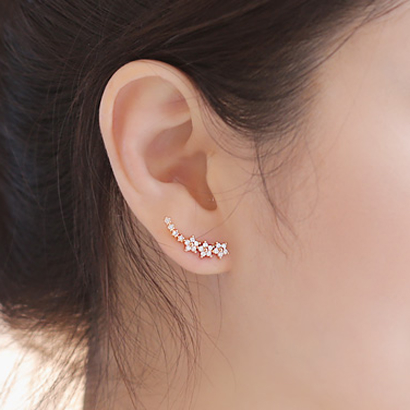 Hot sell stud earring female anti-allergic 925 sterling silver needle stud earring elegant sweet brief accessories