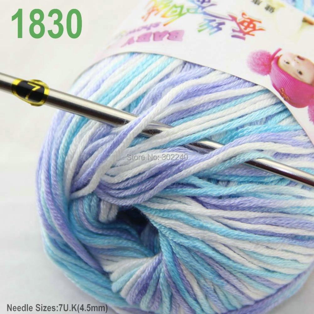 Vente nouveau Lot 6 ballsx 50 g Doux Cachemire Velours de soie Enfants Main Knitting Yarn 37