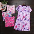 New Arrive Summer Brand Homewear Women Casual Cartoon dress Cotton nightgown Female Short sleeve O-neck collar sleepwear dress