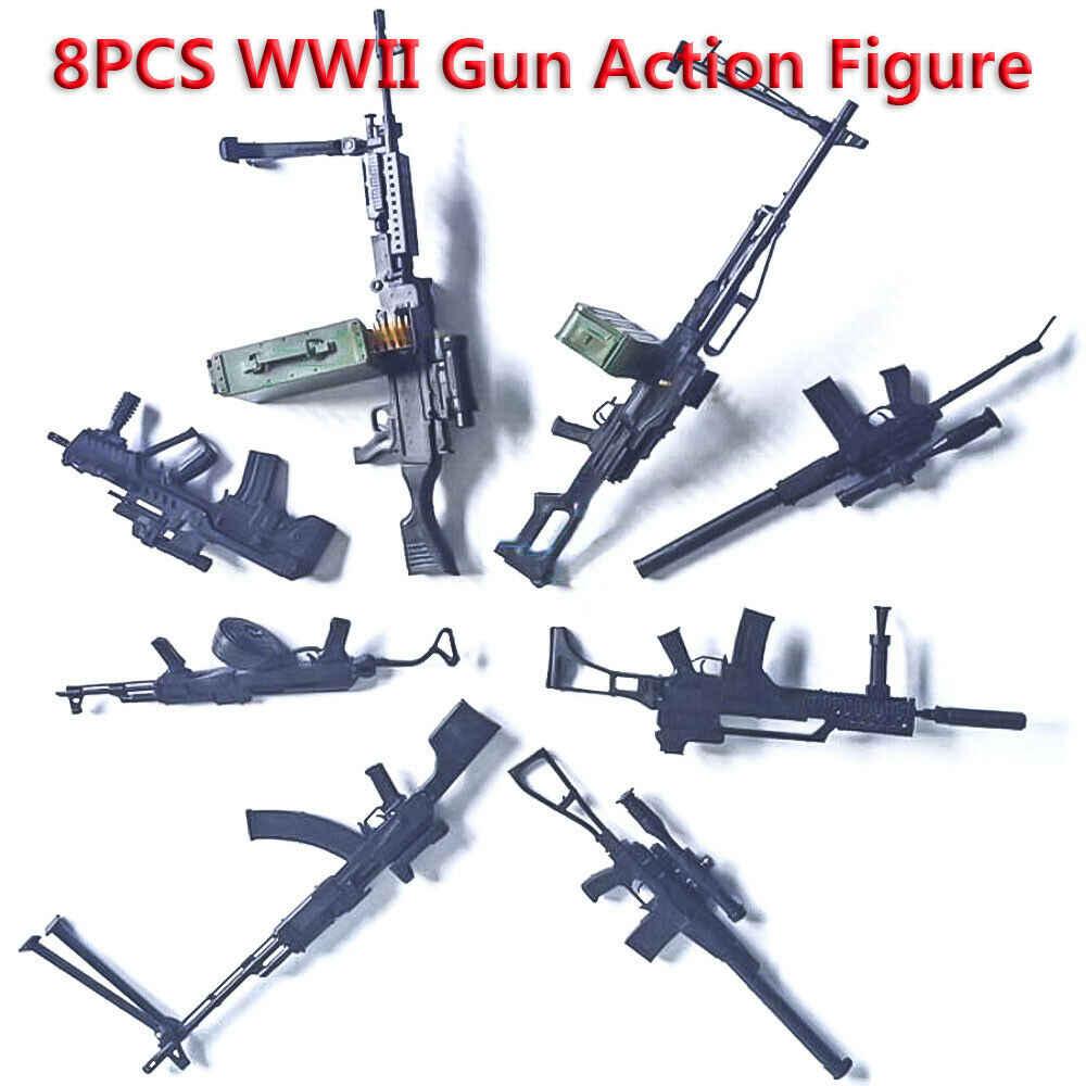 SWAT 1/6 skala świata pistolet Model RPK74 M240 PKP Tavor G36KSK 9A-91 AK47/AKM ASVAL karabin maszynowy Model puzzle budynek