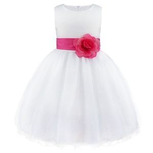 Image 5 - מותג חדש 9 צבעי TiaoBug באורך הברך פורמליות שמלות ילדה פרח לחתונה נסיכת ילדה תחרות ראשית הקודש בנות 2 14Y