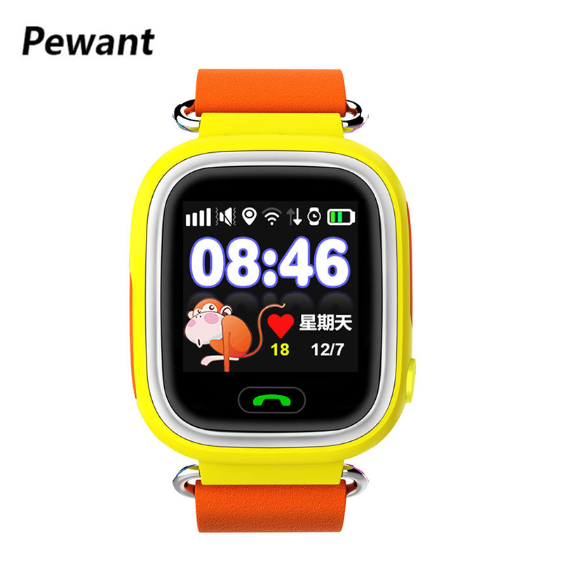 Newest Pewant SOS Children Smart Kids Watch GPS Five Precise Positioning Locator Tracker Smartwatch 1.22 Inch Anti-lost For Baby