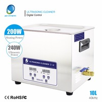 Skymen Digital 10L 240W Ultrasonic Cleaner Timer Heated Stainless Bath Engine Mechanical Parts Ultra Sonic Cleaning PCB Machine