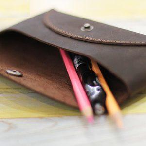 Image 5 - 本革ぬいぐるみ化粧品袋文具鉛筆ペンケースポーチ財布学用品の学生研究文房具少年