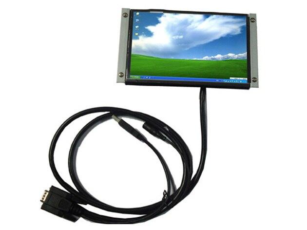 """7 """" lcd OPEN FRAME Touch USB Monitor de tela para Monitor de tela de toque resistivo Industrial 250CD / m2, 1680 * 1050, Entrada VGA"""