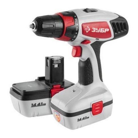 Drill driver rechargeable ZUBR BUIL-144-2 KIN цена и фото