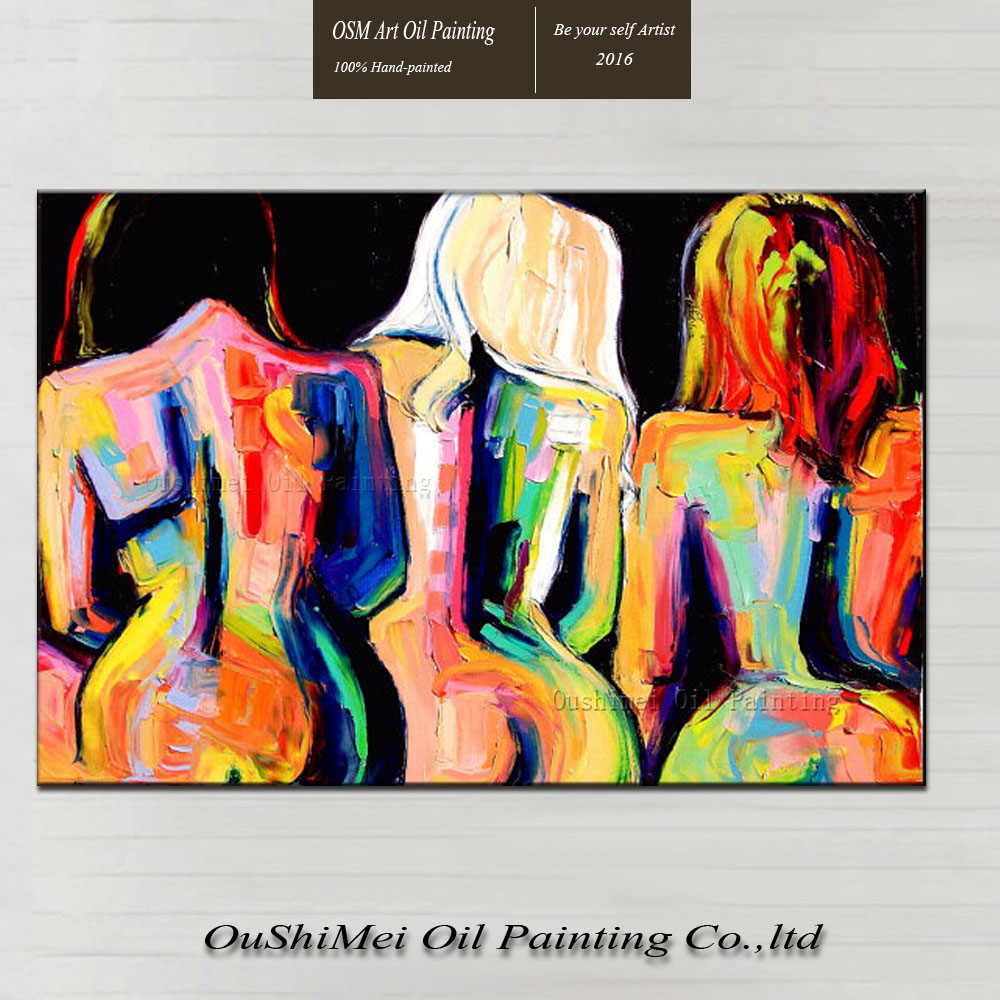 Canvas Design Ideas foxy creative canvas ideas medium size foxy creative canvas ideas large size Great Ideas Newly Designed Big Asses Hand Paint Abstract Nude Women Oil Painting On Canvas For Hotel Wall Decoration