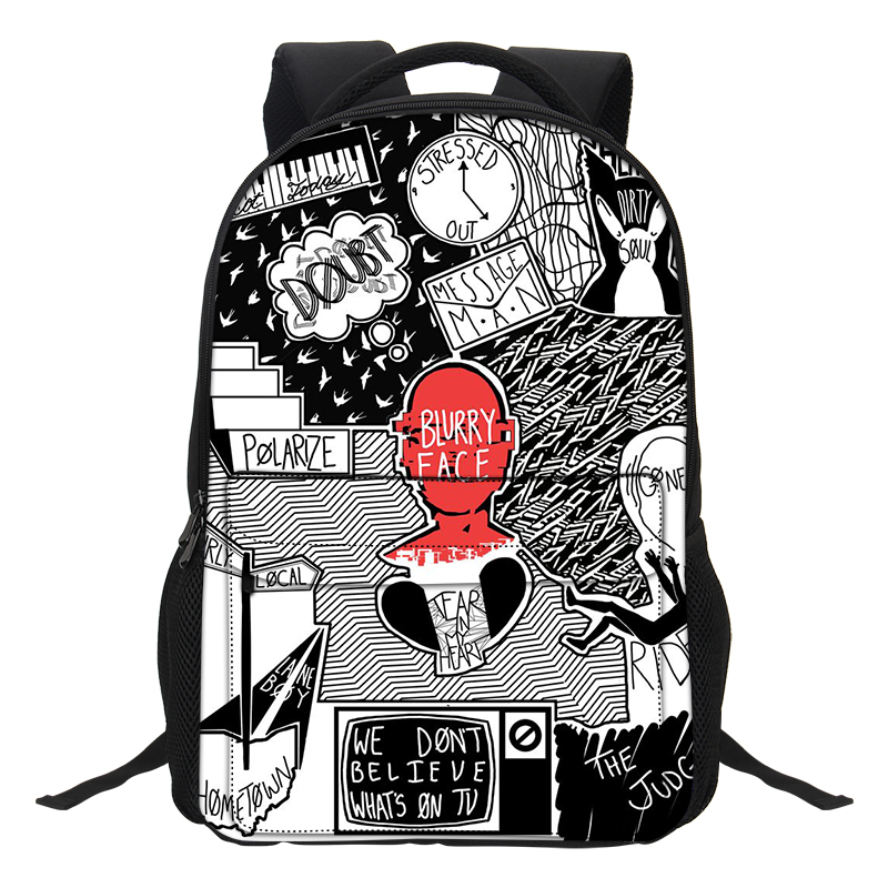 Veevanv Twenty One Pilots Printing Bags Boys Causal Daypacks Men Fashion Laptop School Backpacks For Teenage Girls Mochila