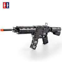 M4A1 carbine plastic Airsoft Air Guns Submachine Technic Building Block Brick fit for Legos Kids Outdoor Game Model PUBG toy gun