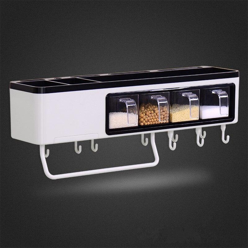Высококачественная многофункциональная кухонная полка настенный стеллаж для хранения ножей кухонная посуда приправа полки кухонные аксессуары - 2
