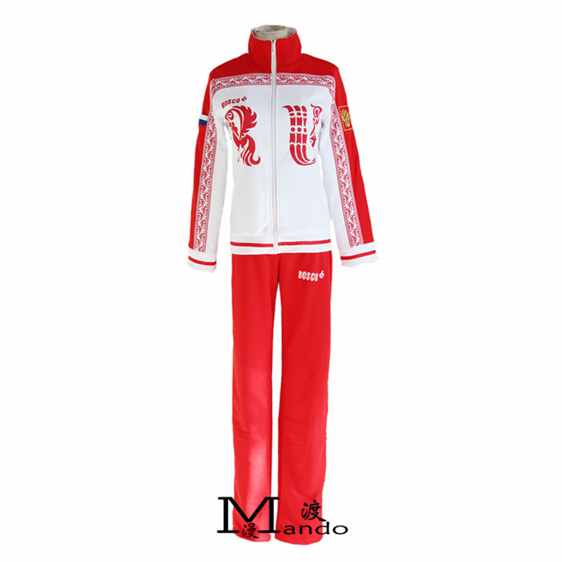 Yuri!!! on Ice Cosplay Costumes Victor Nikiforov Cosplay Clothes halloween Sport Suit Cosplay Sports Wear Jacket + Pants Set