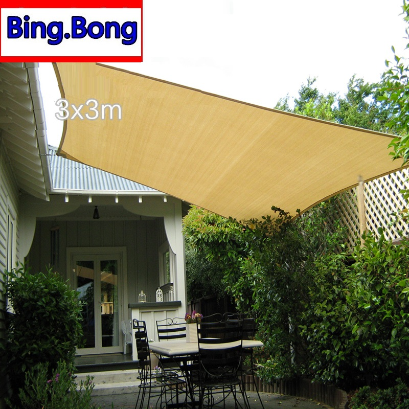 Sun Shade Sail Cloth Hdpe Shading Net 3 3m Square Fabric