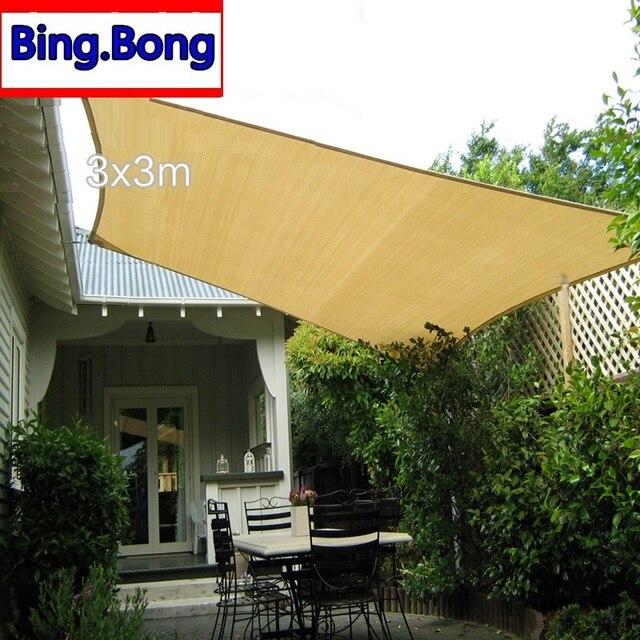 sun shade sail cloth hdpe shading net 3*3m square fabric gazebo garden toldo network & sun shade sail cloth hdpe shading net 3*3m square fabric gazebo ...