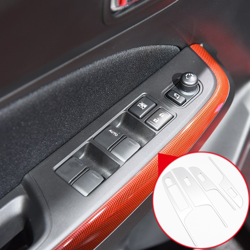 Left HANDLE Drive ABS Matte Interior CAR Door Window Switch Cover Lid Trim 4PCS Fit for Suzuki Swift Hatchback 4-Door 2017 2018 left hand drive 4pcs abs matte interior armrest window switch button cover trim for nissan kicks 2016 2017 2018 car accessories