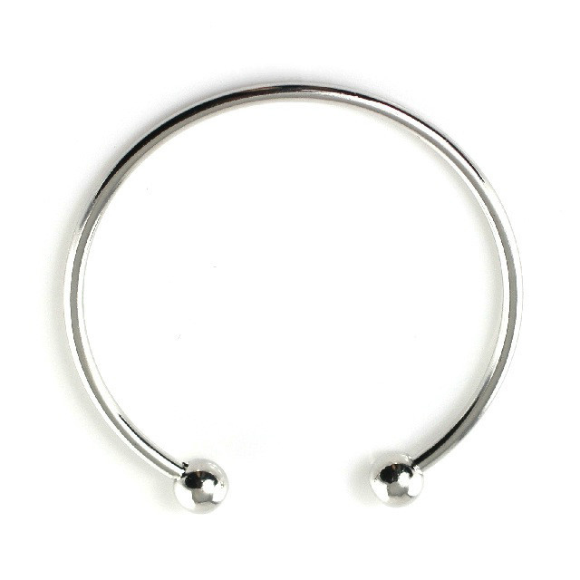 Smooth bracelet for Charm beaded 19cm Adjustable Quntity 1PCS(Silver)
