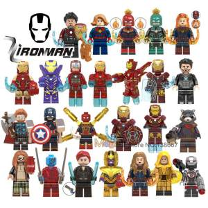 tmgt Iron Man Marvel Legoing Thanos Building Blocks Toys