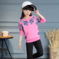 Brand Baby Girls Spring Autumn Sports Suits 2017 Fashion Shirt+Pant Two-Piece Children's Casual Long-Sleeves Print Clothing Sale
