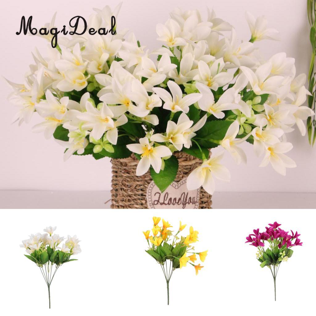 Online Shop Magideal Lily Lilium Nanum Flowers Bunch Artificial