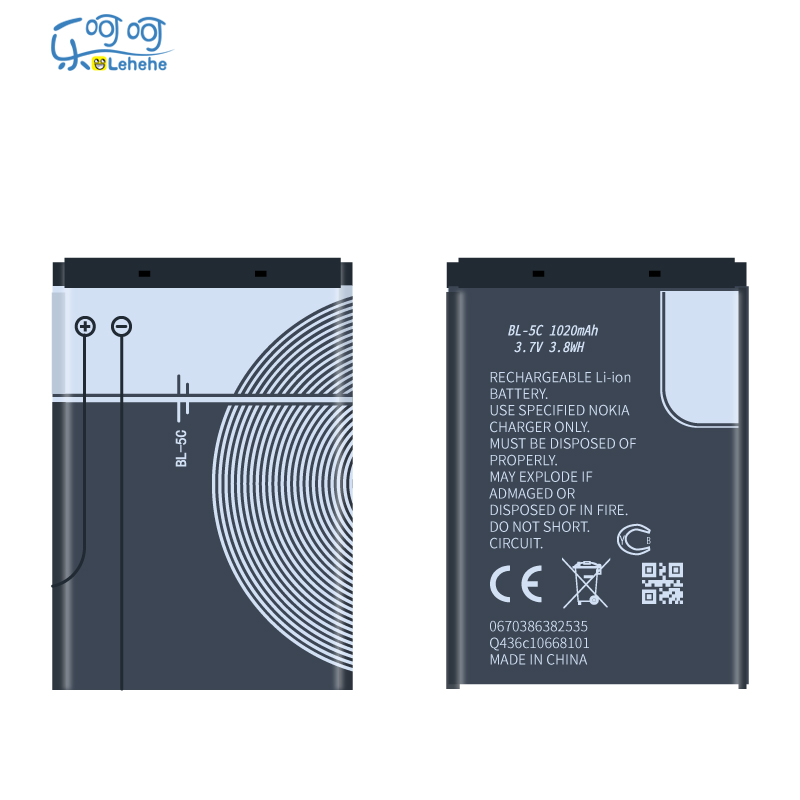 US $11 99  New Original LEHEHE BL 5C Battery For Nokia e60 1112 1208 1600  1100 1101 n70 n71 n72 n91 BL5C 1100mAh Gifts-in Mobile Phone Batteries from