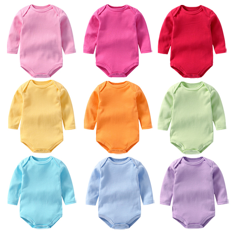 1 Stücke Baby Mädchen Kleidung Neugeborenen Baby Strampler Solid Infant Kleidung Langarm Herbst Winter Jungen Overall Overalls Kinder 0 -2 T