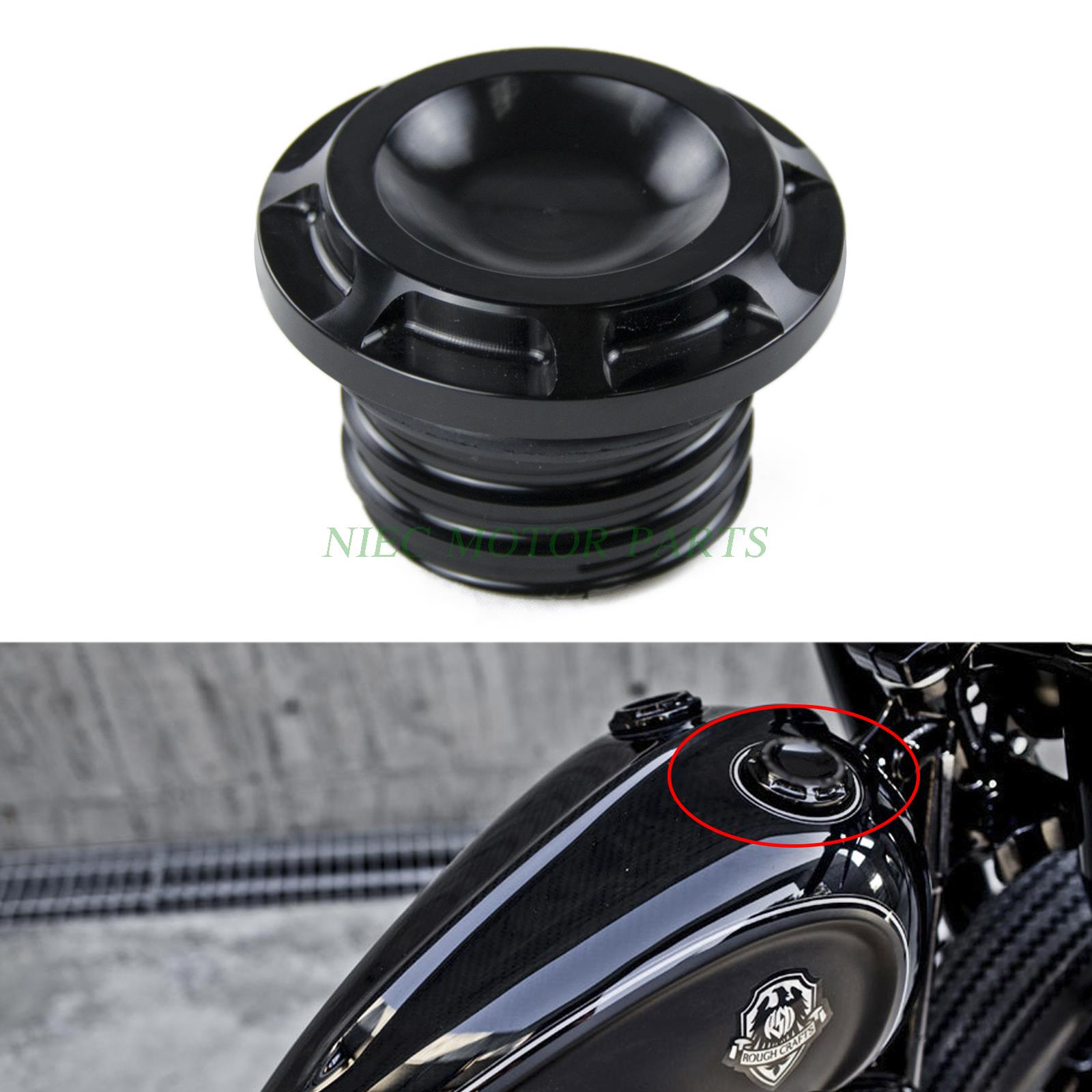 Motorcycle  CNC Groove Gas Cap Fuel Cap For Harley-Davidson Dyna Softail Sportster 883/1200 Touring Road King triclicks motorcycle black hand levers clutch brake lever handlebar for harley sportster 883 1200 softail dyna road king touring