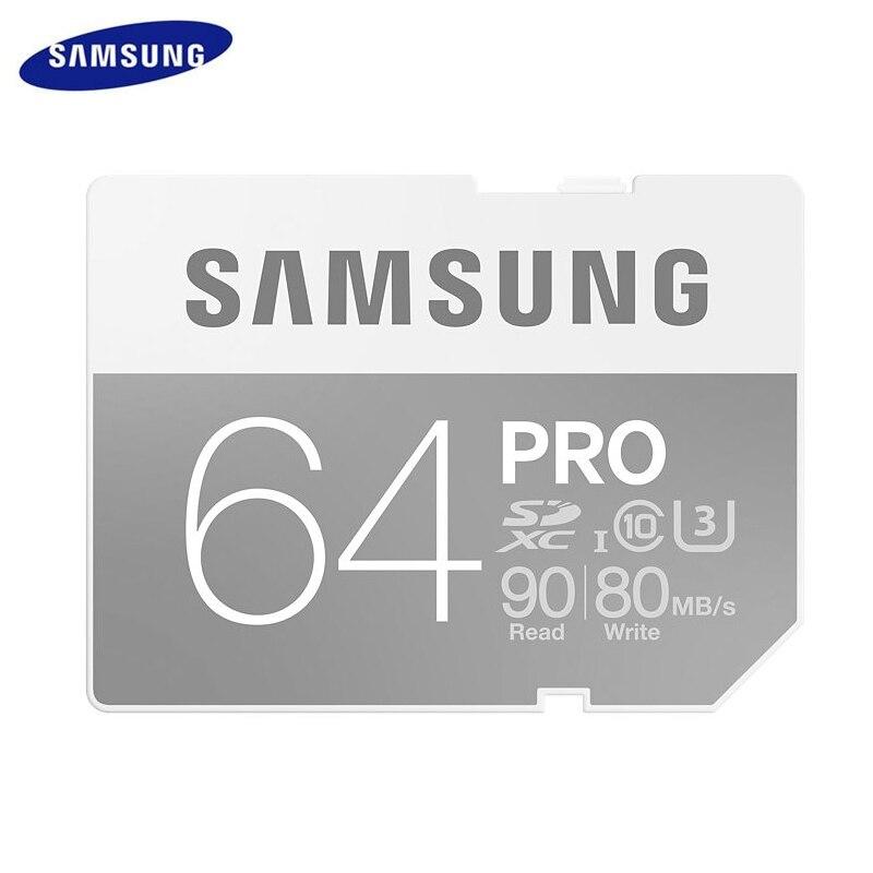 ФОТО Samsung Pro Memory SD Card 64GB 128GB 90M/S Super Speed UHS-I U3 SDHC SDXC for Digital Camera 4K Support Official Verification