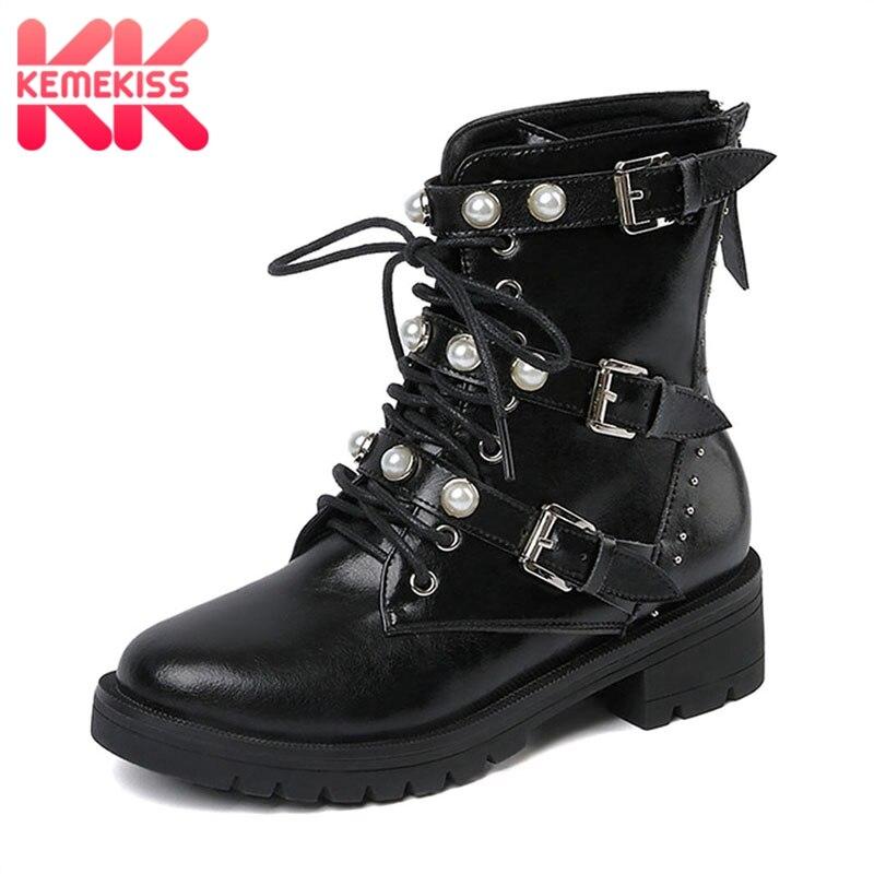 7f93c3c2 Martin Hebillas 39 Genuino 3 Casual 34 Zapatos De Kemekiss Mujer Cuero Botas  Tamaño Negro Ocio OxBvOqnX