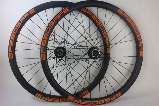 9954d14e047 650B MTB DH downhill mountain bike carbon wheels 40mm asymmetric 30mm deep  clincher tubeless 27.5in
