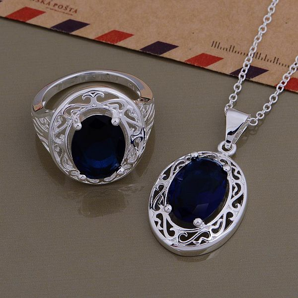 Silver plated Jewelry Sets Ring...