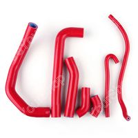 Areyourshop For Ducati 1199 2012 2013 Red Kit Silicone Hose Radiator Heater Vacuum Silicone Pipe Tube Cooling System