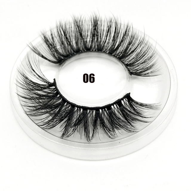 1 Pair 3D Faux Mink Hair False Eyelashes Criss-cross Feathery Wispy Lashes Natural Long Eyelashes 7 Styles Lashes Makeup Tools 3
