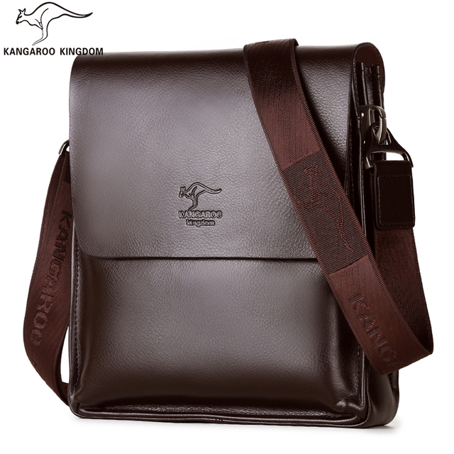 3d32c92a07a0 Kangaroo Kingdom Famous Brand Men Bag Leather Mens Messenger Bags One  Shoulder Crossbody Bag
