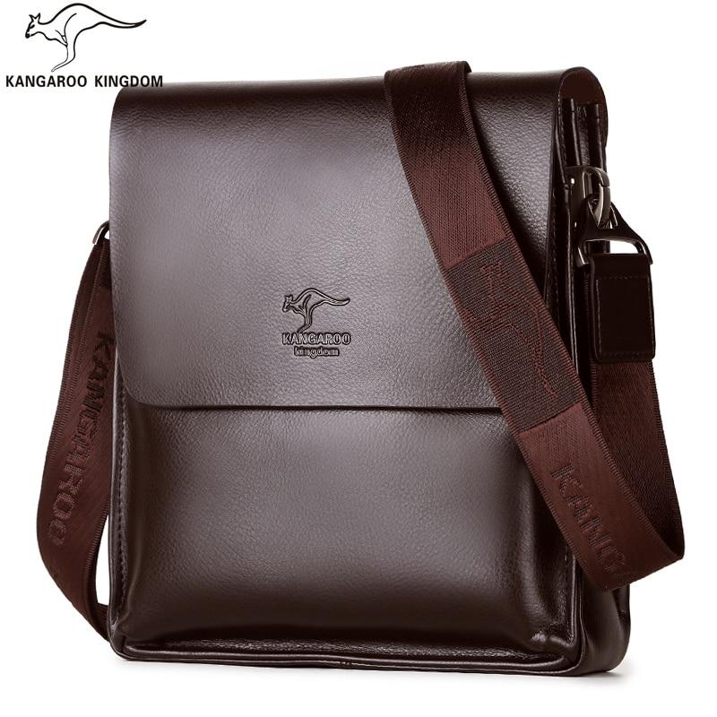 Kangaroo Kingdom Famous Brand Men Bag Leather Mens Messenger Bags One Shoulder Crossbody Bag