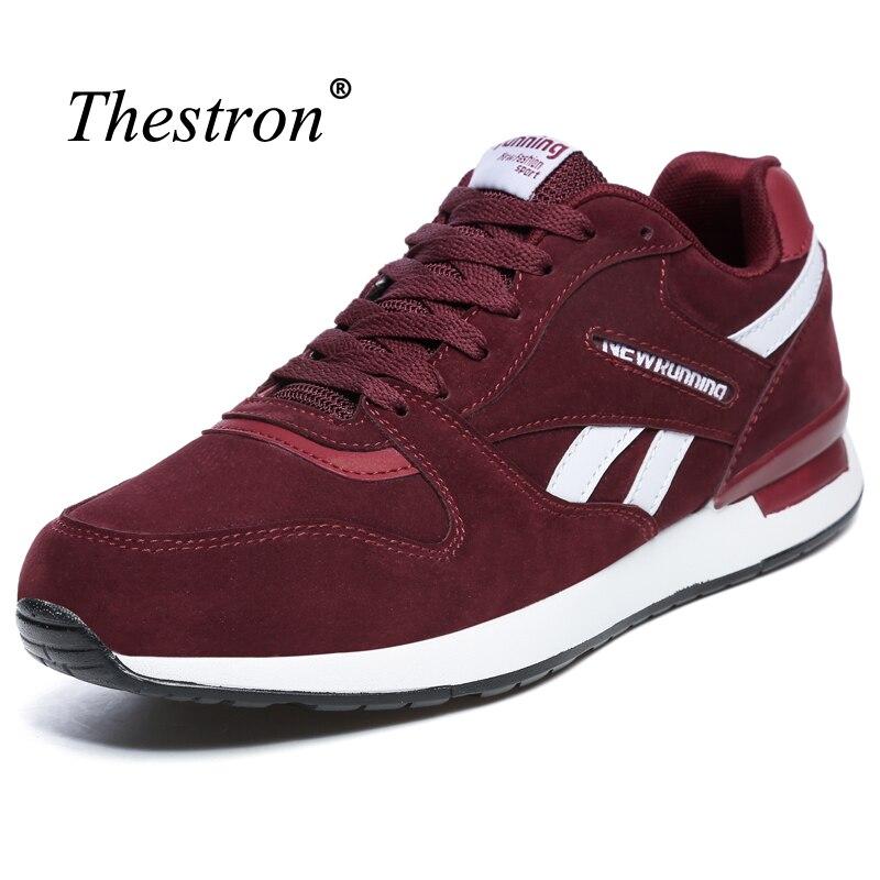 Thestron Обувь Спорт Ман серый и красный цвета тапки для Обувь для мальчиков Мех животных Внутри зимняя мужская Спортивная обувь хорошее качест... ...