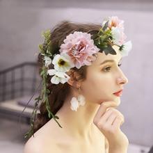 Повязки для волос, для путешествий свадебные головные уборы для девушек ленты для волос с цветами