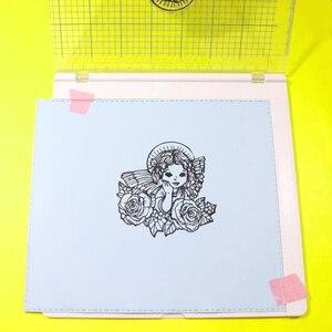 """Image 5 - Überraschung Creation Große größe Stanzen Werkzeug 20,3x20,3 cm (8x8 """")  perfekte Positionierung & Stanzen für Klar Briefmarken"""