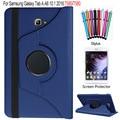 Для Samsung Galaxy Tab A 10.1 2016 SM-T580 T585 Case 360 Градусов Вращающийся Стенд Tablet Cover + Протектор Экрана + стилус