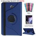 Para samsung galaxy tab a 10.1 2016 sm-t580 t585 case 360 Grados Que Giran la Cubierta de La Tableta + Protector de Pantalla + stylus